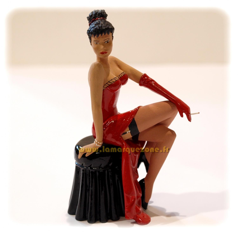 PIN-UP - GIRL SMOKING CIGARETTE - 9 cm metal figurine, décotoys ...