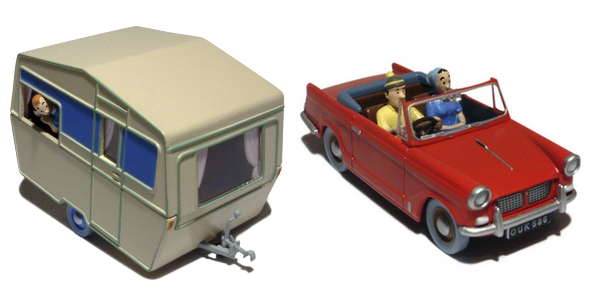tintin en voiture tintin n 28 29 v hicule miniature 1 43 occasion moulinsart tintin. Black Bedroom Furniture Sets. Home Design Ideas