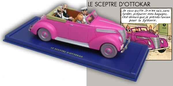 tintin en voiture tintin n 69 v hicule miniature 1 43. Black Bedroom Furniture Sets. Home Design Ideas