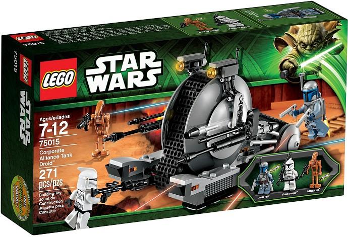 star wars corporate alliance tank droid lego  construction xml