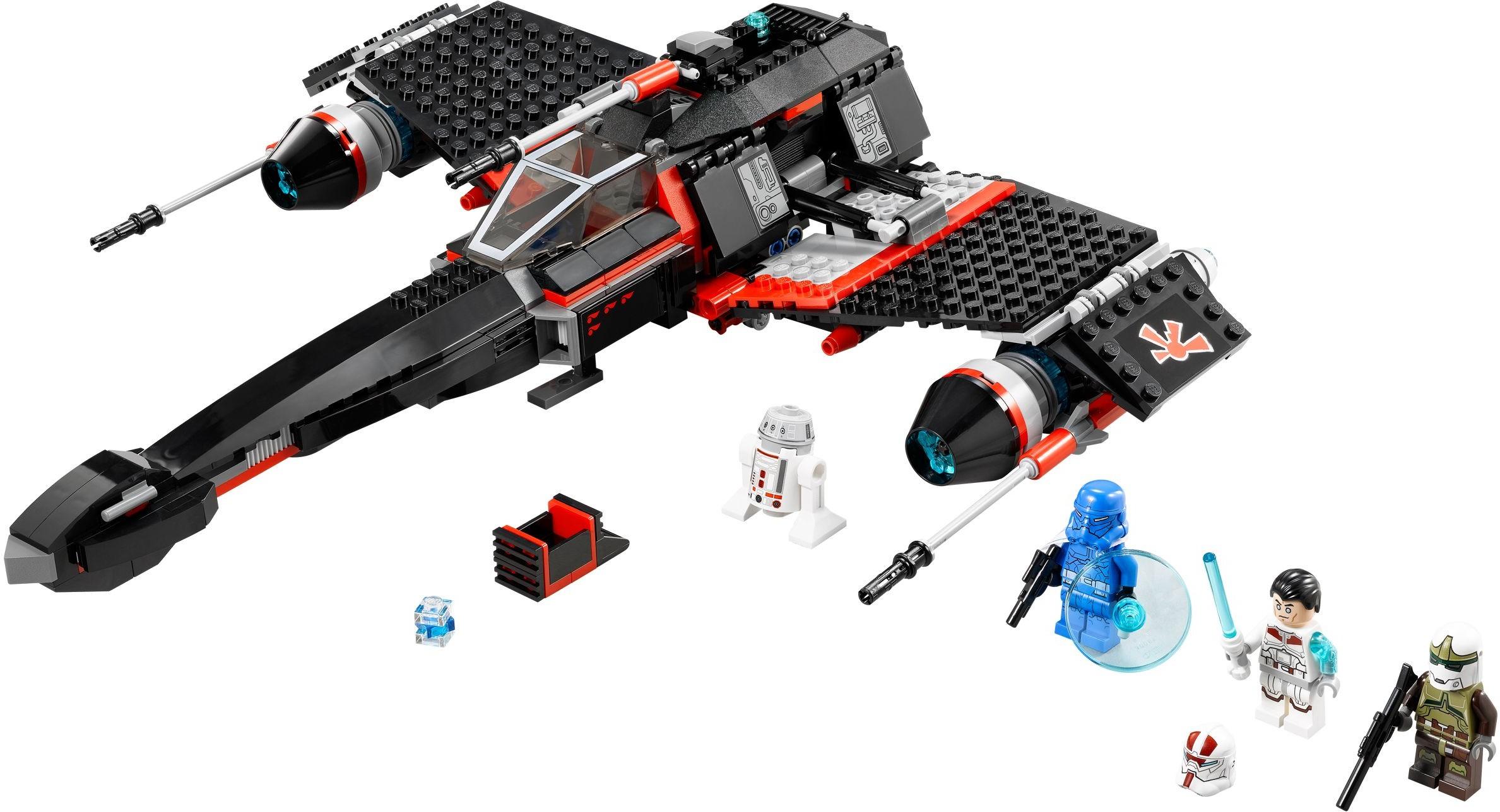 Star wars jek 14 39 s stealth starfighter lego 75018 jeu - Vaisseau dark maul ...