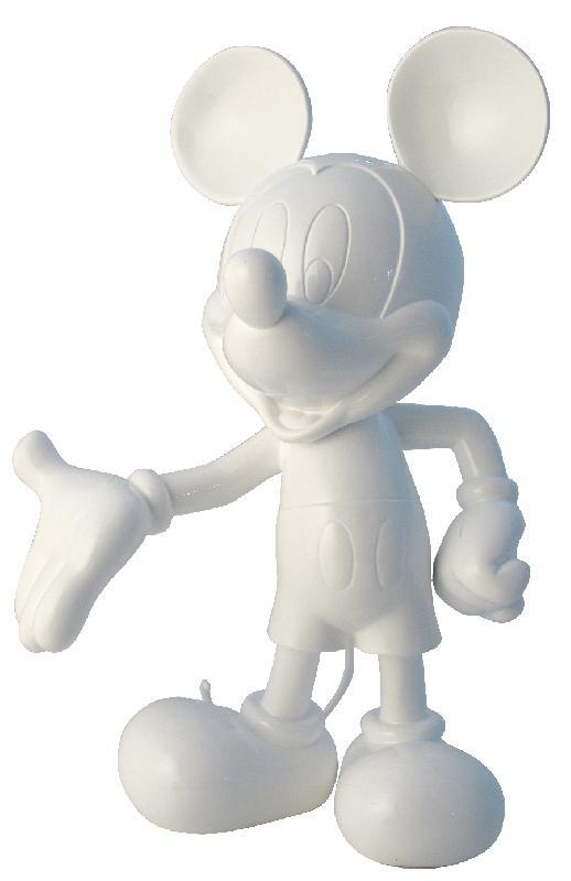 figurine tête de mickey noel en résine : Autres breloques par marielapuce59