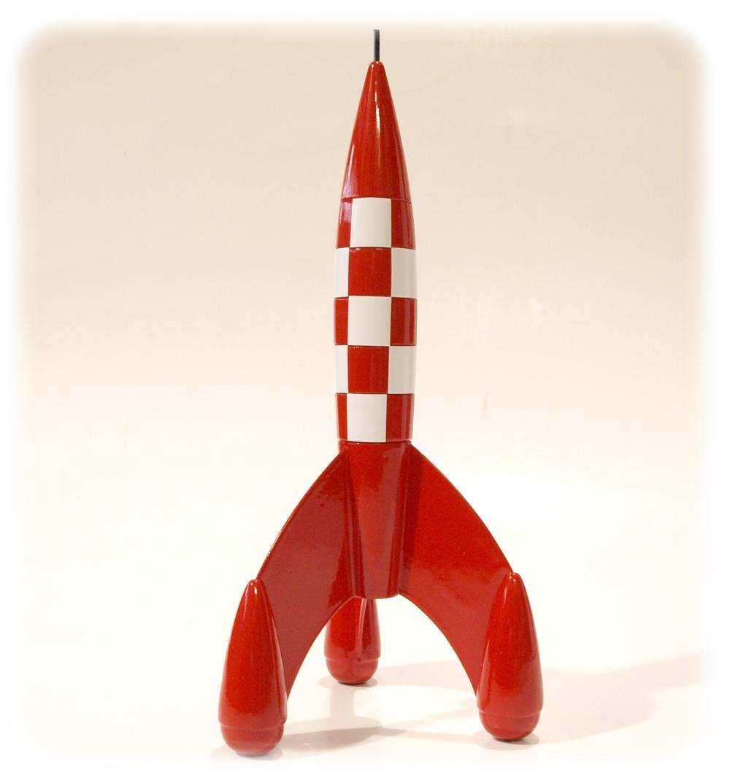 Tintin fusee aroutcheff r plique bois 23 cm occasion aroutcheff aroutfus e23 - Fusee de tintin a colorier ...