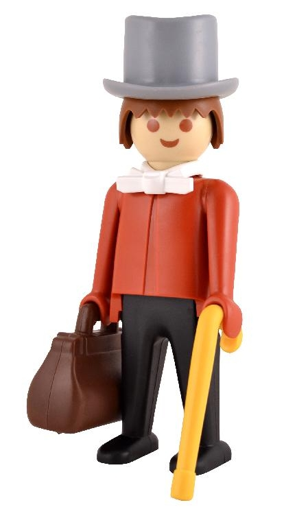 playmobil le gentleman du far west 24 cm collectible. Black Bedroom Furniture Sets. Home Design Ideas