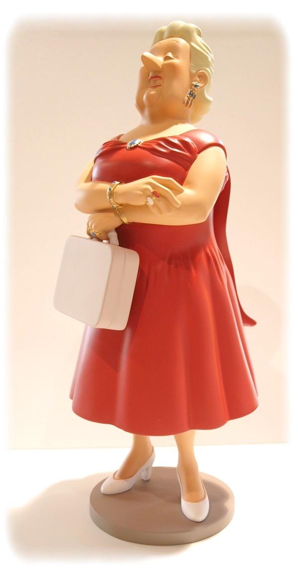 TINTIN - BIANCA CASTAFIORE - 23 cm resin statuette ...