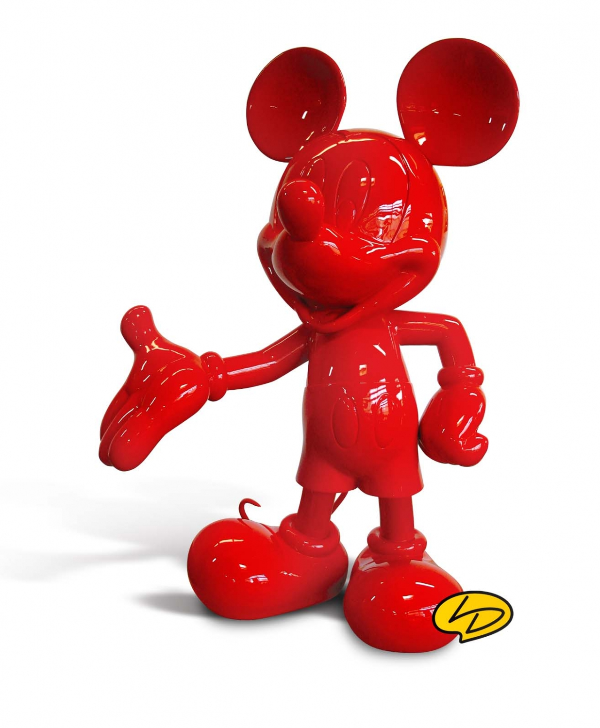 figurine mickey rouge