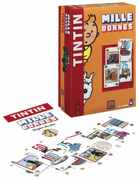 tintin mille bornes dition standard jeu de soci t dujardin moul59029. Black Bedroom Furniture Sets. Home Design Ideas