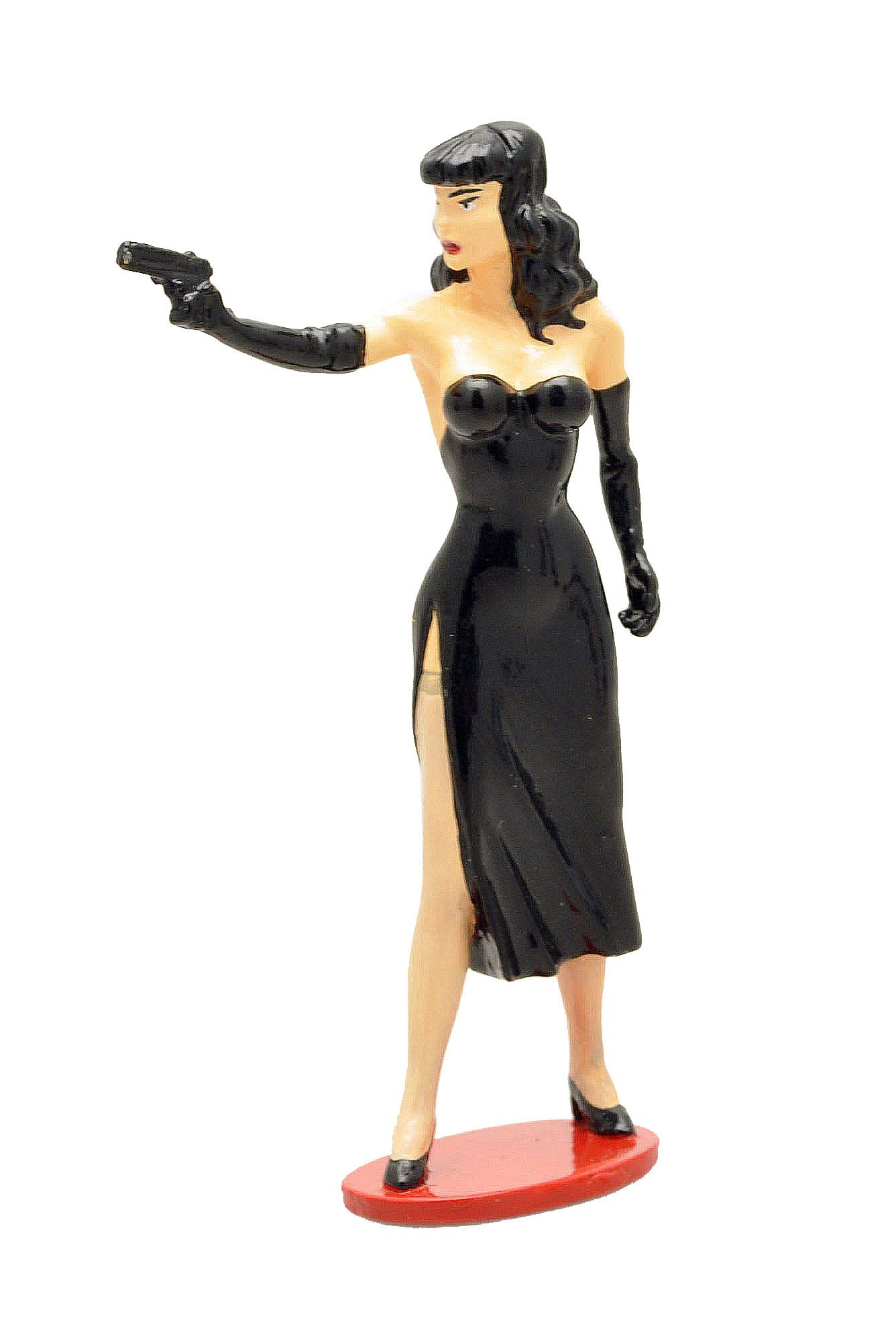 Figurine Pin-Up Berthet Poison Ivy au Pistolet Pixi Origine 05331