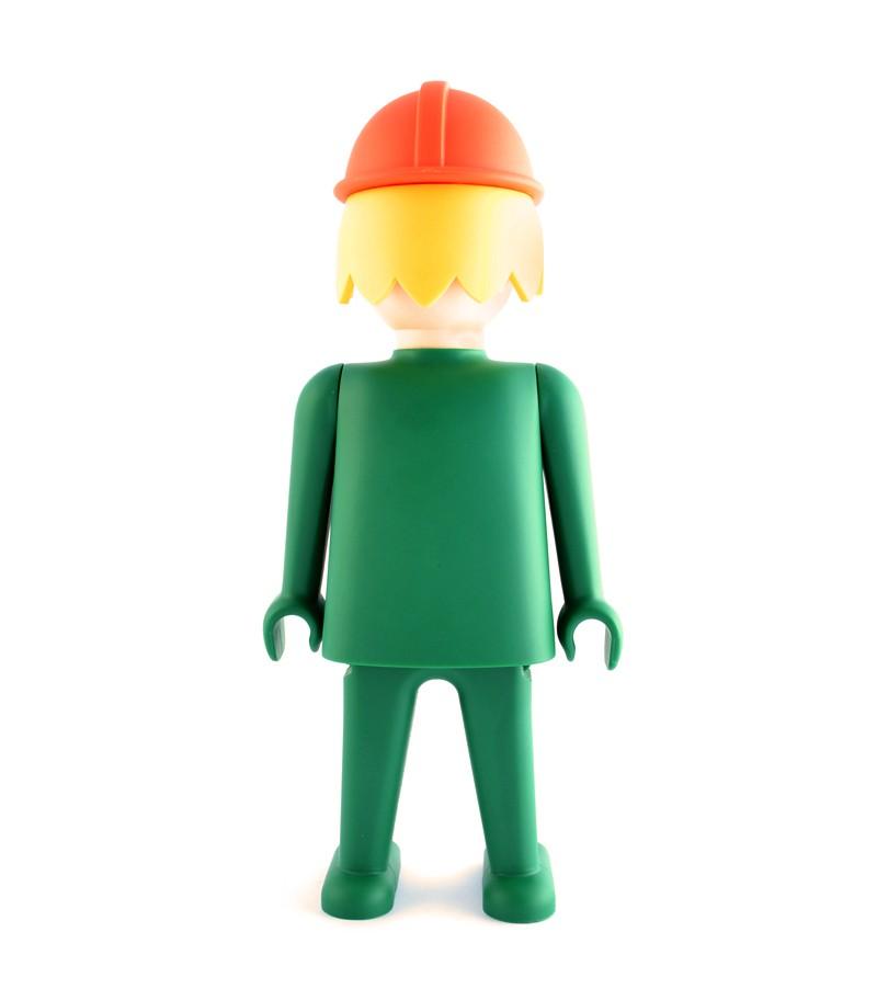 Playmobil l 39 ouvrier vert figurine de collection en abs for Ouvrier espace vert