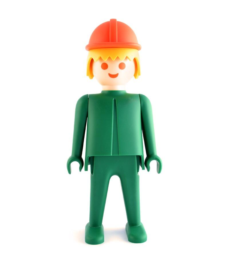 Playmobil l 39 ouvrier vert 24 cm abs collectible figure for Ouvrier espace vert