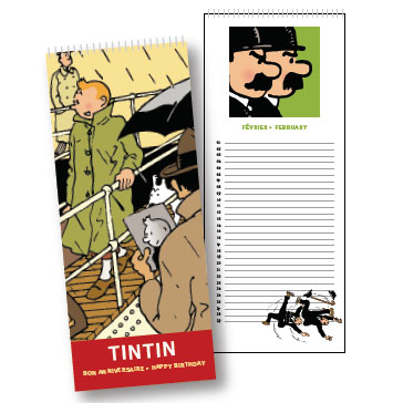 tintin calendrier anniversaire perpetuel moulinsart tintin. Black Bedroom Furniture Sets. Home Design Ideas
