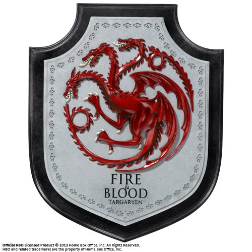 Game of thrones le trone de fer blason maison targaryen for Decoration murale game of thrones
