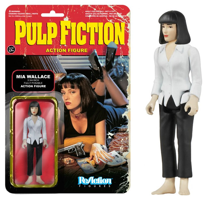 Pulp fiction mia wallace reaction figures figurine articul e 10 cm funko fk4084 - Porte monnaie pulp fiction ...