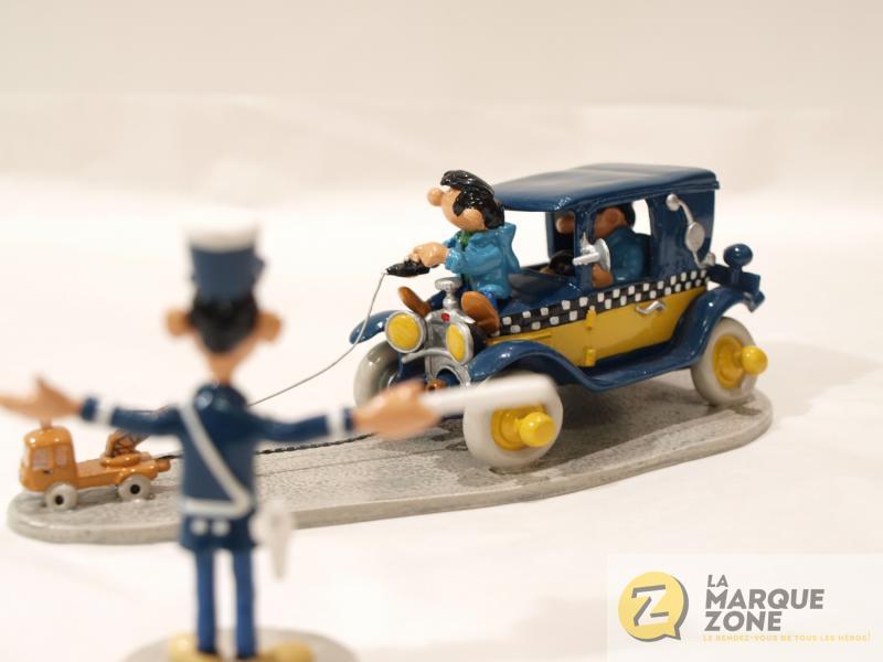 gaston lagaffe le taxi et la mini depanneuse avec longtarin figurines m tal pixi pixi04755. Black Bedroom Furniture Sets. Home Design Ideas