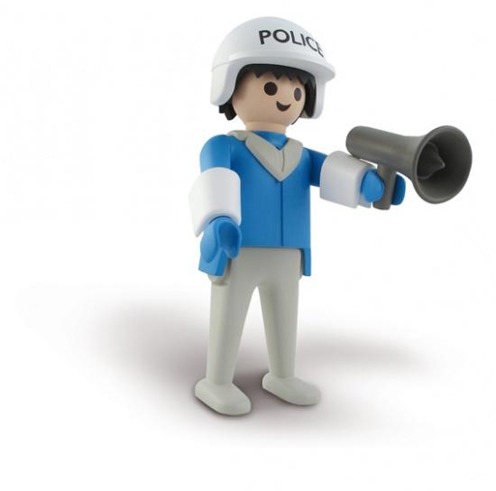 Playmobil le policier statuette r sine 23 cm leblon - Playmobile policier ...