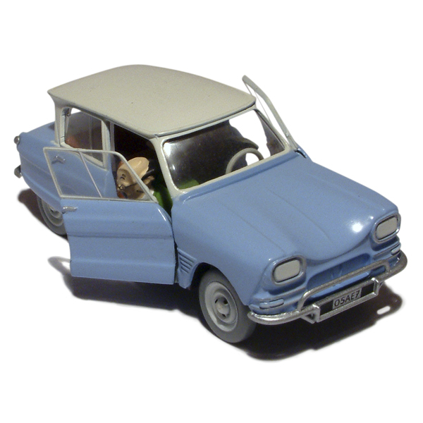 en voiture tintin n 14 citroen ami 6 les bijoux de la castafiore moulinsart tintin. Black Bedroom Furniture Sets. Home Design Ideas