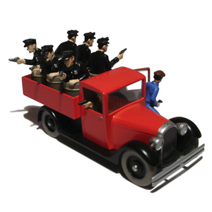 en voiture tintin n 41 camion de police tintin en amerique moulinsart tintin moul29041. Black Bedroom Furniture Sets. Home Design Ideas
