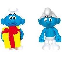 les schtroumpfs schtroumpf farceur schtroumpf grognon pack de 2 figurines articules - Schtroumpf Farceur