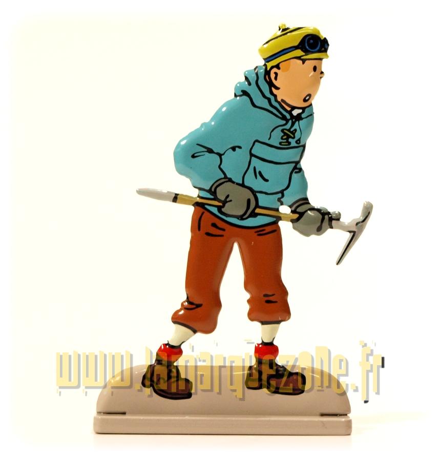 Moulinsart bas relief Figurine métal Tintin Tintin et Le crabe aux pinces d/'or
