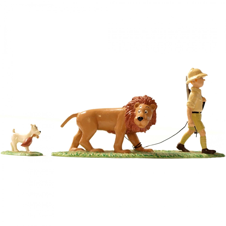 tintin tintin milou et le lion figurine m tal 7 cm pixi 4561 occasion pixi pixi04561. Black Bedroom Furniture Sets. Home Design Ideas