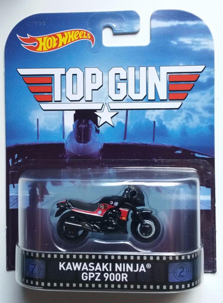 top gun  kawasaki ninja gpz 900r  u0026quot hotwheels retro entertainment u0026quot   64  hot
