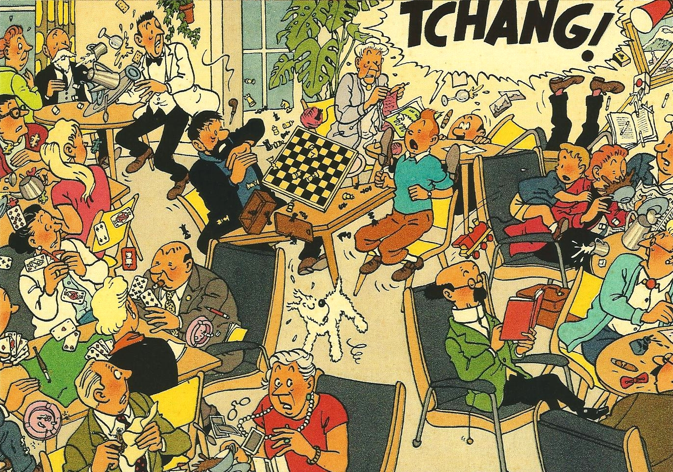 """TINTIN: COLORIAGE TIBET """"TCHANG"""" - carte postale 12.4 x 17.5 cm ..."""