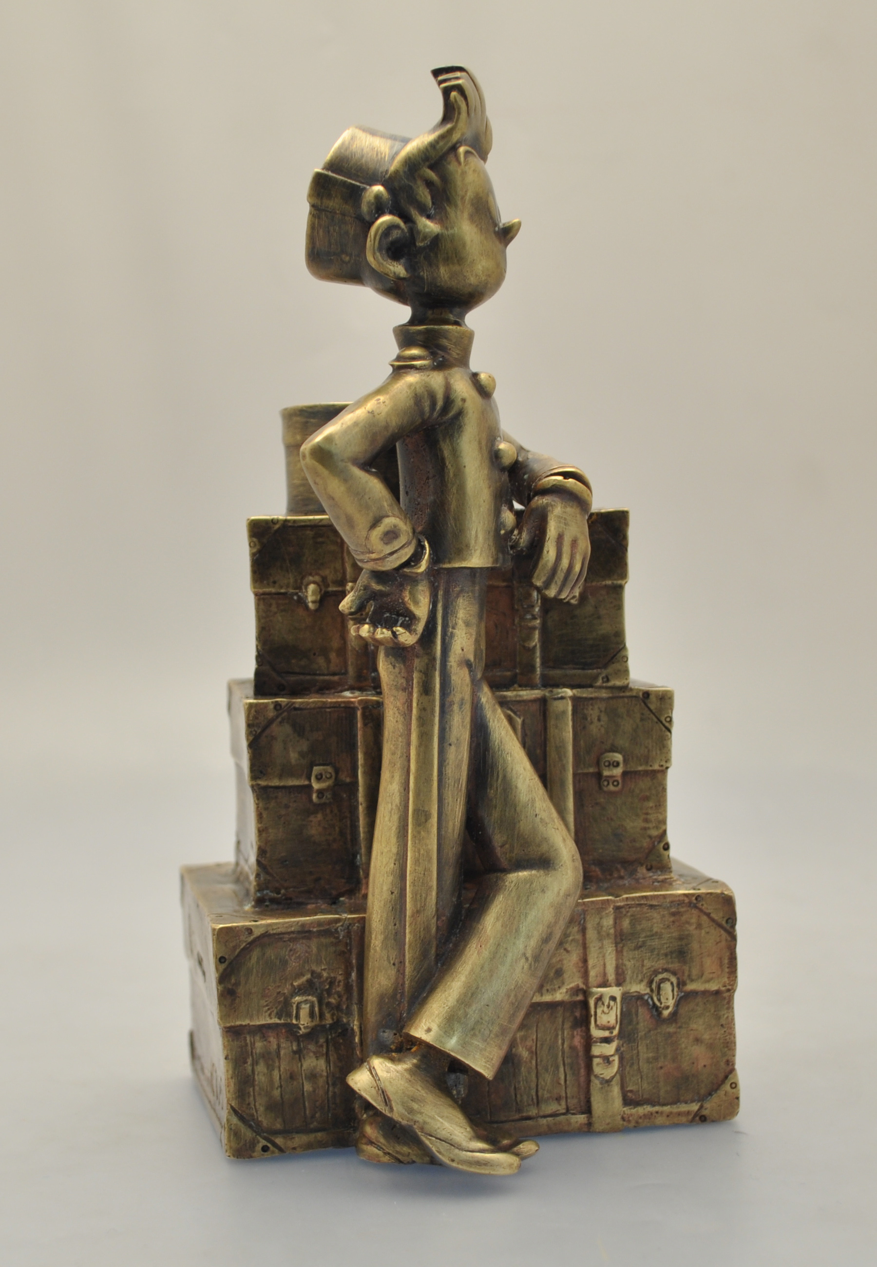 Spirou figurine pincer brand tyco