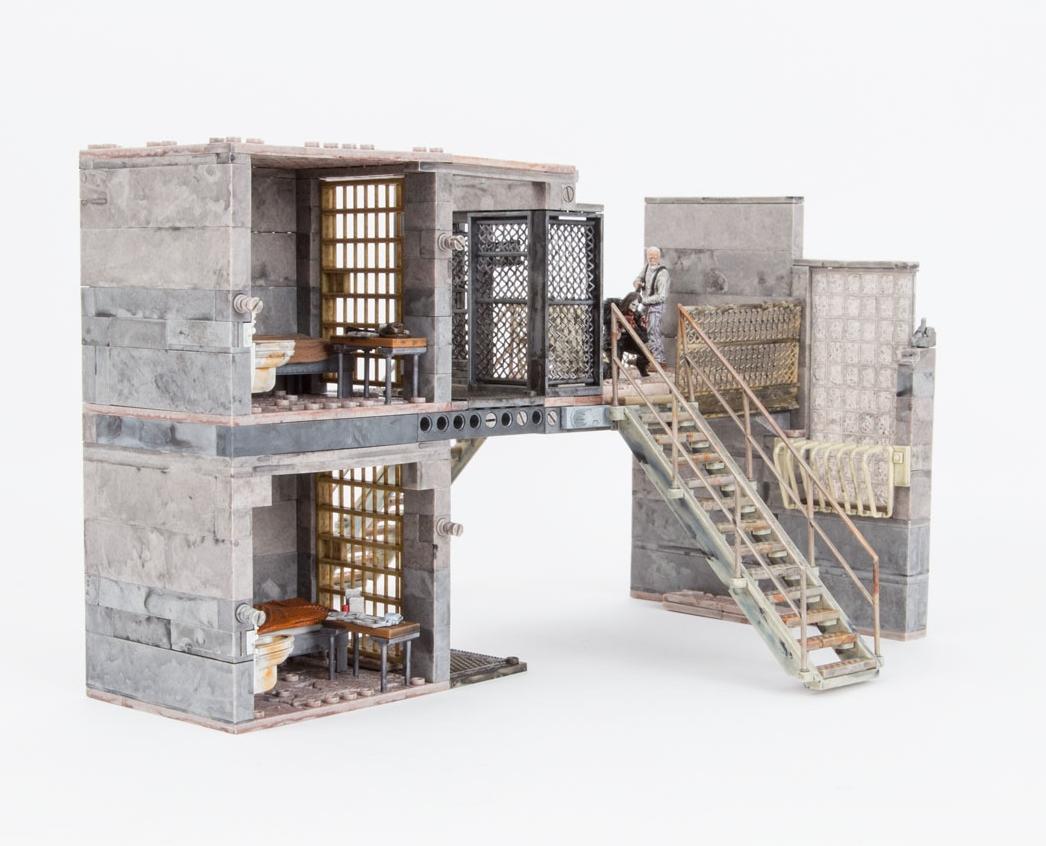 The Walking Dead Tv Prison Catwalk Building Set Mcfarlane  # Modele De Meuble De Tele