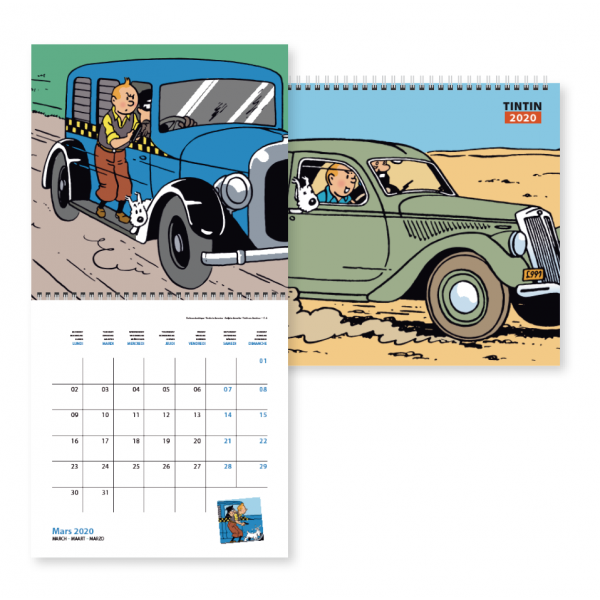 Calendrier 2020 Playmobil.Tintin Grand Calendrier 2020 30 X 30 Cm