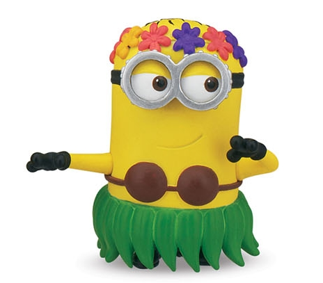 Moi moche mechant 2 minion hula mini figurine 5 cm thinkway toys tht25078b01 - Mechant minion ...